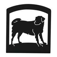 Dog Black Metal Upright Napkin Holder