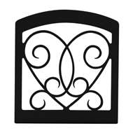 Heart Black Metal Upright Napkin Holder