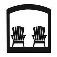 Adirondack Chairs Black Metal Upright Napkin Holder