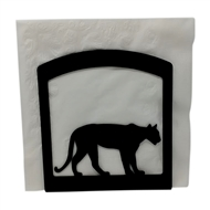 Mountain Lion Black Metal Upright Napkin Holder