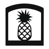 Pineapple Black Metal Upright Napkin Holder