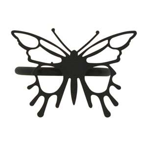 Butterfly Black Metal Napkin Ring
