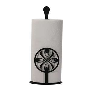 Bow Black Metal Paper Towel Stand -Counter Top