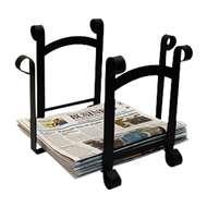 Plain Black Metal Newspaper Recycle Bin