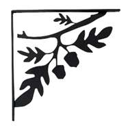 Acorn Black Metal Shelf Brackets Medium 1 Pair