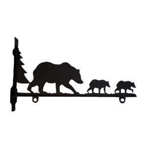 Bear Family Black Metal Sign Bracket 18 In.