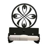 Ribbon Black Metal Toilet Tissue Holder -Roller Style