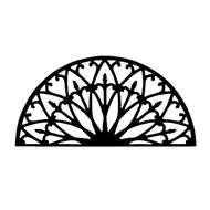 Wall Art Semicircle Style 196 in Black Metal