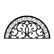 Wall Art Semicircle Style 197 in Black Metal