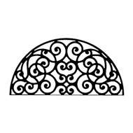 Wall Art Semicircle Style 198 in Black Metal