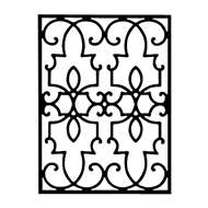 Wall Art Rectangular Style 199 in Black Metal