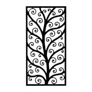 Wall Art Rectangular Style 202 in Black Metal