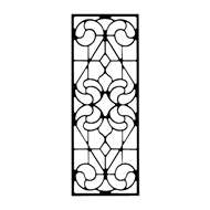 Wall Art Rectangular Style 205 in Black Metal