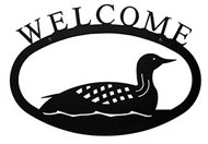 Loon Black Metal Welcome Sign Large