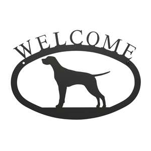 Black Metal Welcome Sign Small - Pointer