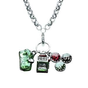 Casino Charm Necklace in Silver