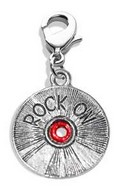 Rock On CD Charm Dangle in Silver