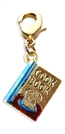 Cook Book Charm Dangle In Gold