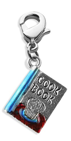 Cook Book Charm Dangle In Silver
