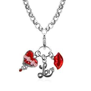 Valentine's Day Charm Necklace In Silver