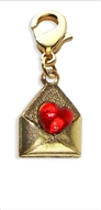 Love Letter Charm Dangle in Gold