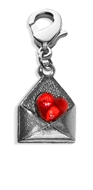 Love Letter Charm Dangle in Silver