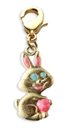 Easter Bunny Charm Dangle in Gold