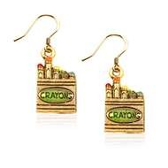 Crayons Charm Earrings in Gold