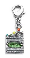 Crayons Charm Dangle in Silver