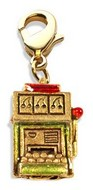 Slot Machine Charm Dangle in Gold