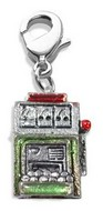 Slot Machine Charm Dangle in Silver