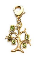 Money Tree Charm Dangle in Gold