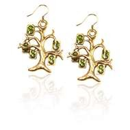 Money Tree Charm Earrings in Gold