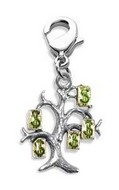 Money Tree Charm Dangle in Silver