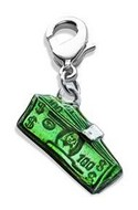 Money Clip with Money Charm Dangle in Silver