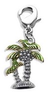 Palm Trees Charm Dangle in Silver