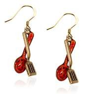 Cooking Utensils Charm Earrings In Gold