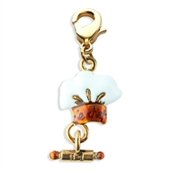 Chef Hat Charm Dangle In Gold