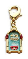 Jukebox Charm Dangle in Gold