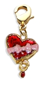 Heart Chocolate Box Charm Dangle in Gold