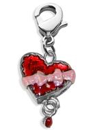 Heart Chocolate Box Charm Dangle in Silver