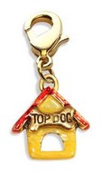 Dog House Charm Dangle in Gold