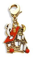 Haunted House Charm Dangle in Gold