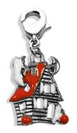 Haunted House Charm Dangle in Silver