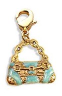 Retro Purse Charm Dangle in Gold