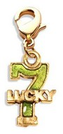 Lucky 7 Charm Dangle in Gold