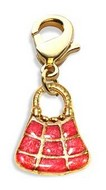 Tic-Tac-To Purse Charm Dangle in Gold