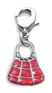 Tic-Tac-To Purse Charm Dangle in Silver