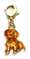 Puppy Charm Dangle in Gold