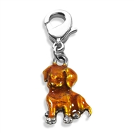 Puppy Charm Dangle in Silver